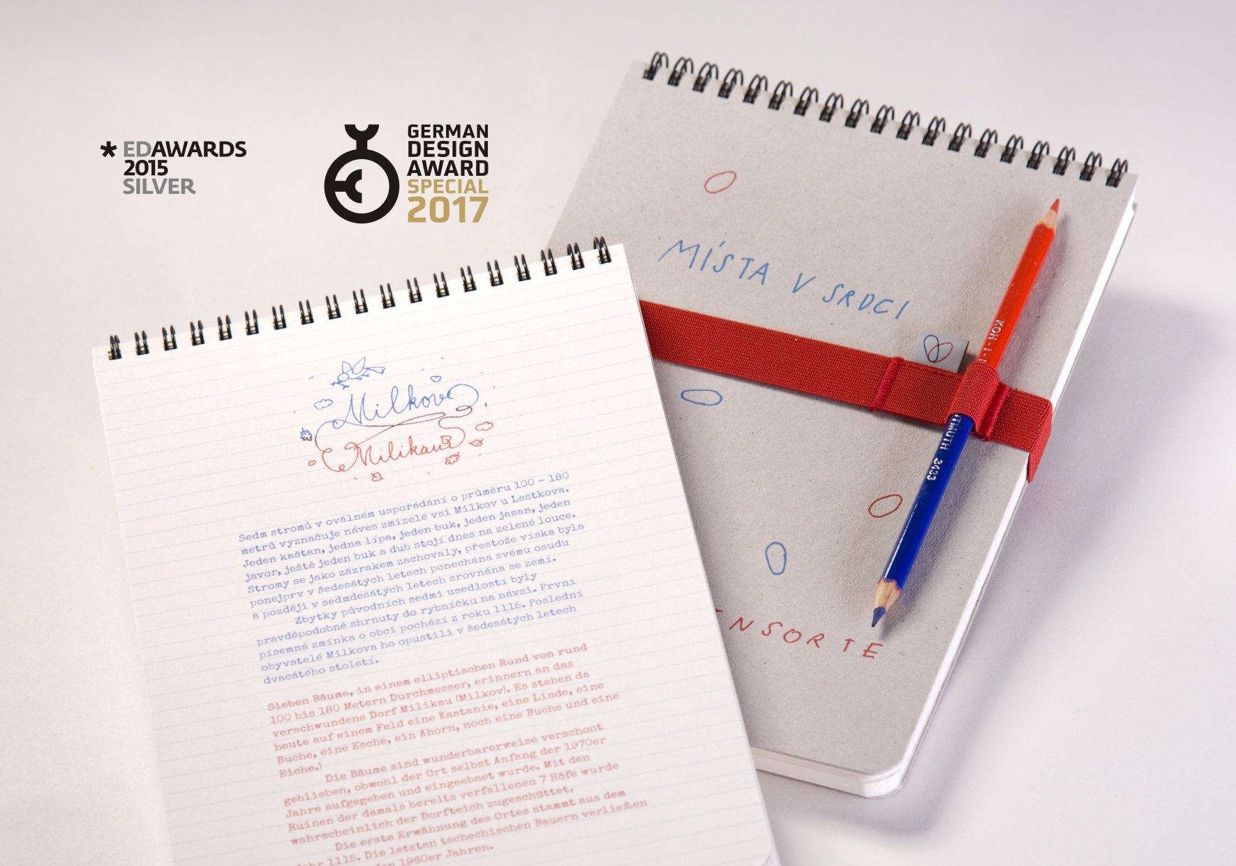 """Kniha """"Místa v srdci"""" získala německou cenu za design"""